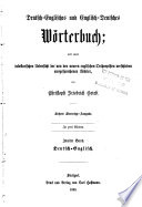 A Dictionary of the English and German Languages  German and English