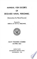 Manual for Escorts of Deceased Naval Personnel