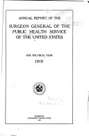 Report of the Federal Security Agency  Public Health Service Book