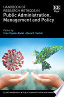 Handbook Of Research Methods In Public Administration Management And Policy