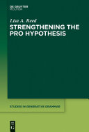 Strengthening the PRO Hypothesis