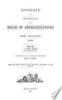 Appendix to the Journals of the House of Representatives of New Zealand Book