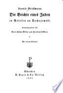 Die Beichte eines Juden in Briefen an Dostojewski