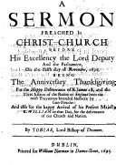 Pdf A Sermon preached in Christ-Church ... on the fifth day of November, 1695, etc