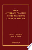 Read Online Civil Appellate Practice in the Minnesota Court of Appeals For Free