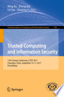 Trusted Computing And Information Security Book PDF