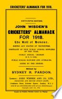 Wisden Cricketers' Almanack 1918