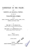 A Commentary On The Psalms From Primitive And Medi Val Writers Psalm I To Psalm Xxxviii 4th Ed 1884 Book PDF