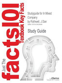 Studyguide for in Mixed Company by J Dan Rothwell  Isbn 9781111346850