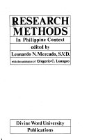 Research Methods in Philippine Context