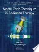Monte Carlo Techniques In Radiation Therapy Book PDF