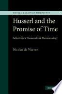 Husserl and the Promise of Time Book