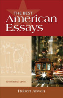 The Best American Essays  College Edition Book