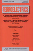 Domain Structures In Ferroelectrics, Ferroelastics, And Other Ferroic Materials