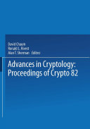 Pdf Advances in Cryptology Telecharger