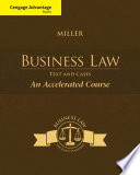 Cengage Advantage Books  Business Law  Text   Cases   An Accelerated Course Book PDF