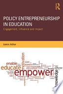 Policy Entrepreneurship In Education Book