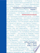 Foundations of Applied Mathematics  Volume I Book