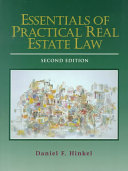 Essentials of Practical Real Estate Law Book