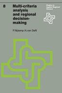 Pdf Multi-Criteria Analysis and Regional Decision-Making