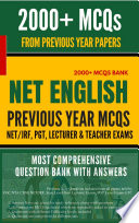 NET JRF English Solved Question bank based on Previous Papers With Instant Answer Key