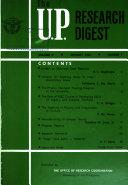The U P Research Digest