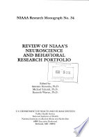 Review of NIAAA s Neuroscience and Behavioral Research Portfolio Book