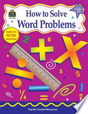 How To Solve Word Problems Grades 5 6 Book PDF