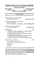 The Western Pennsylvania Historical Magazine