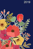 2019 Daily Planner Floral Blue Design 384 Pages