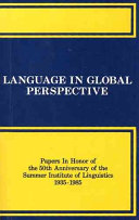 Language in Global Perspective
