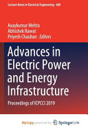 Advances in Electric Power and Energy Infrastructure