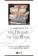 A Companion to the History of the Book [Pdf/ePub] eBook
