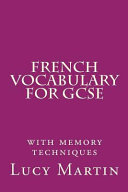 French Vocabulary for Gcse