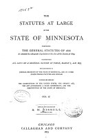 The Statutes at Large of the State of Minnesota