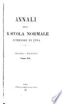 Annali della Scuola normale superiore di Pisa