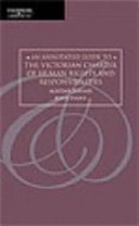 Cover of An Annotated Guide to the Victorian Charter of Human Rights and Responsibilities