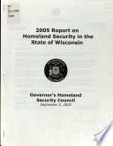 Report on Homeland Security in the State of Wisconsin
