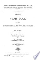 Official Year Book Of The Commonwealth Of Australia No 25 1932