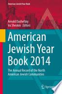 American Jewish Year Book 2014 Book