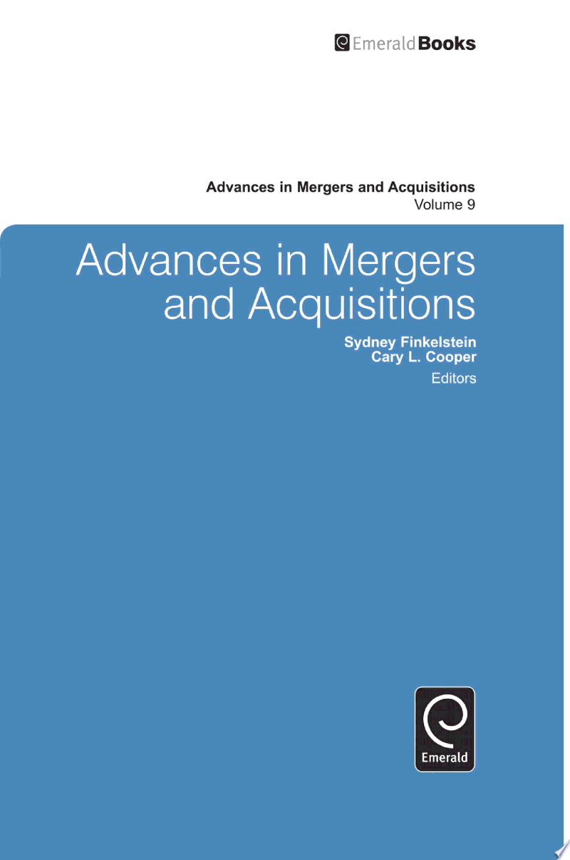 Advances in Mergers and Acquisitions banner backdrop