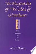 The Biography of  the Idea of Literature  Book