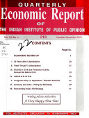 Quarterly Economic Report of the Indian Institute of Public Opinion