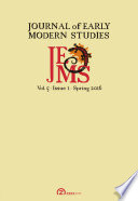 Journal Of Early Modern Studies Volume 5 Issue 1 Spring 2016  Book