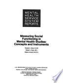 Measuring Social Functioning in Mental Health Studies