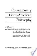 Contemporary Latin-American Philosophy
