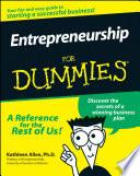 """""""Entrepreneurship For Dummies"""" by Kathleen Allen"""