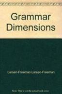 Grammar Dimensions 4 (W/ Grammar Cafe)