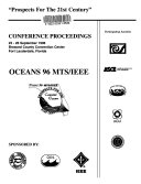 Oceans '96 MTS/IEEE: Conference proceedings