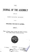 The Journal Of The Assembly During The Session Of The Legislature Of The State Of California